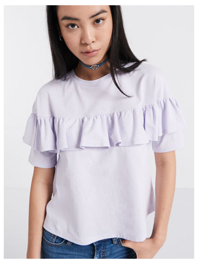 Lilac Frill Front T-Shirt