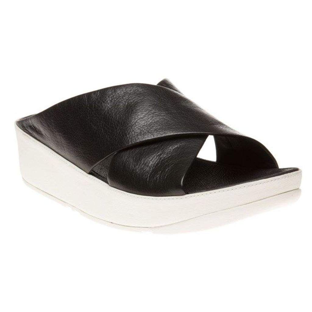 FitFlop Kys Sandals, Black/White