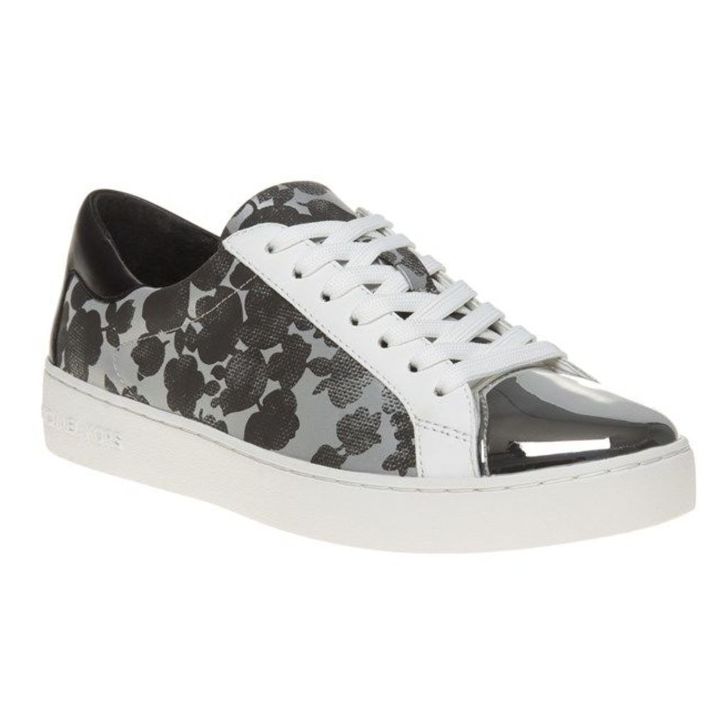 Michael Kors Frankie Trainers, Silver/Black