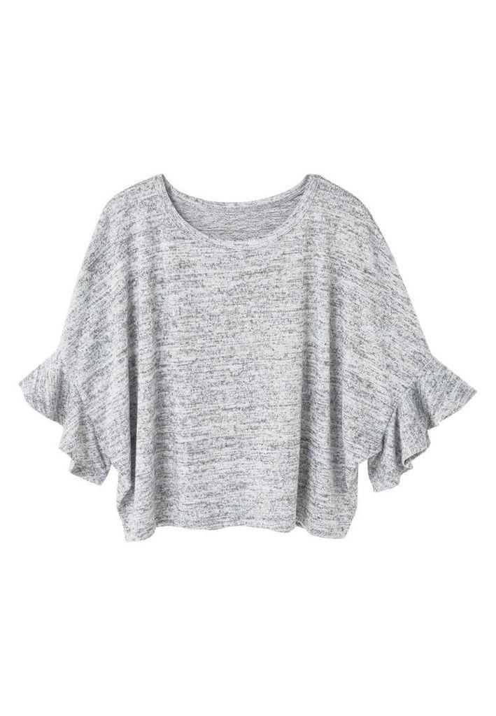 Mango Ruffle t-shirt, Grey
