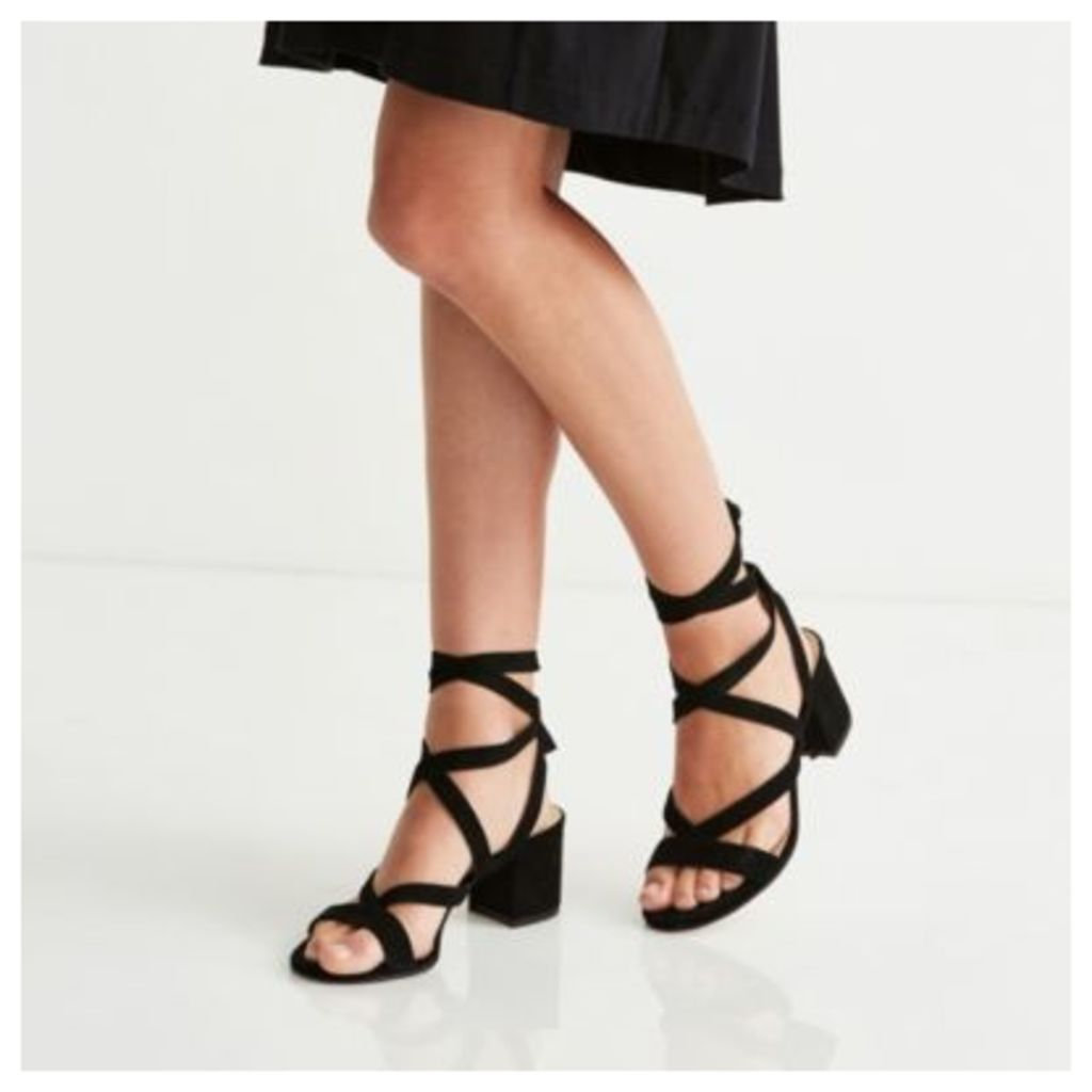 Suede Wrap Around Sandals