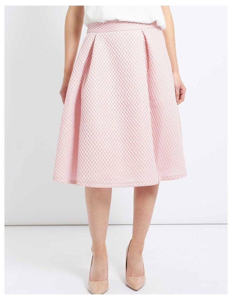 OPHELIA - Midi A Line Mesh Skirt Pink