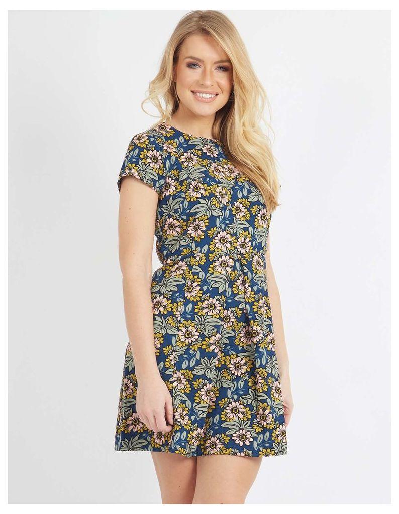 KALI - Pleat Front Printed Dress