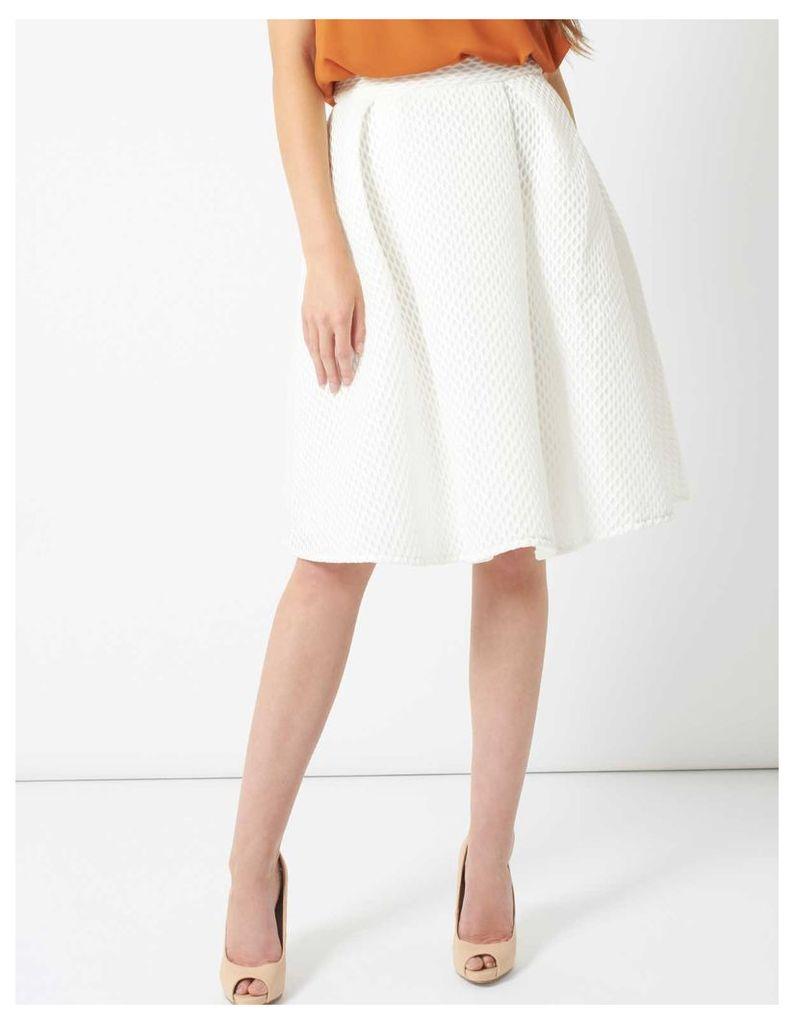 OPHELIA - Midi A Line Mesh Skirt White