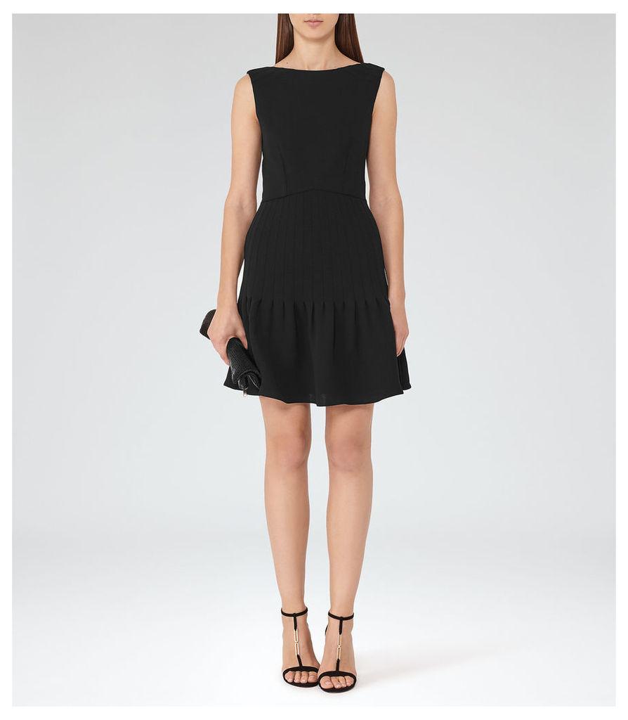 REISS Marisa - Womens Pin-tuck Dress in Black