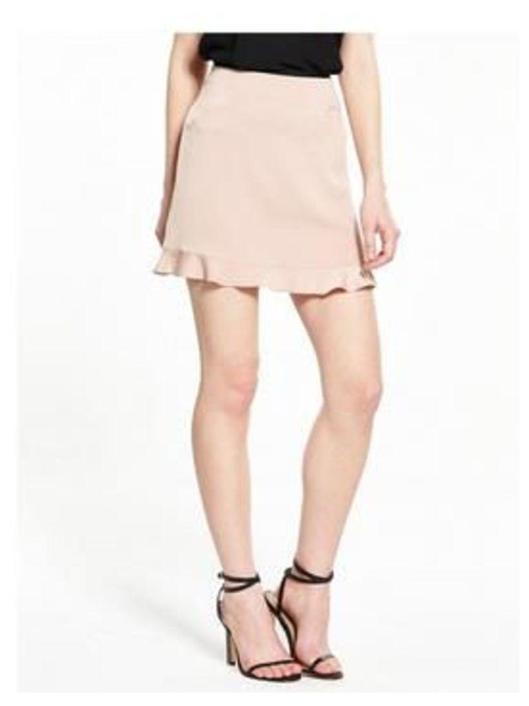 Ri Petite Nude Frill Skirt