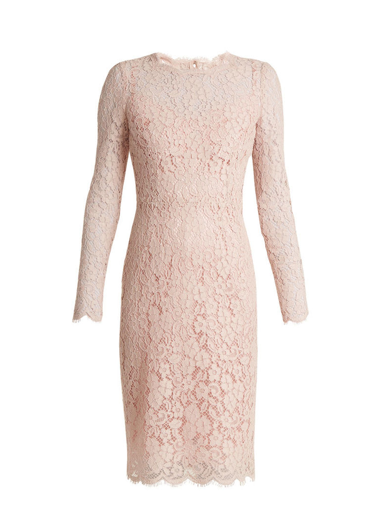 Long-sleeved Cordonetto-lace dress