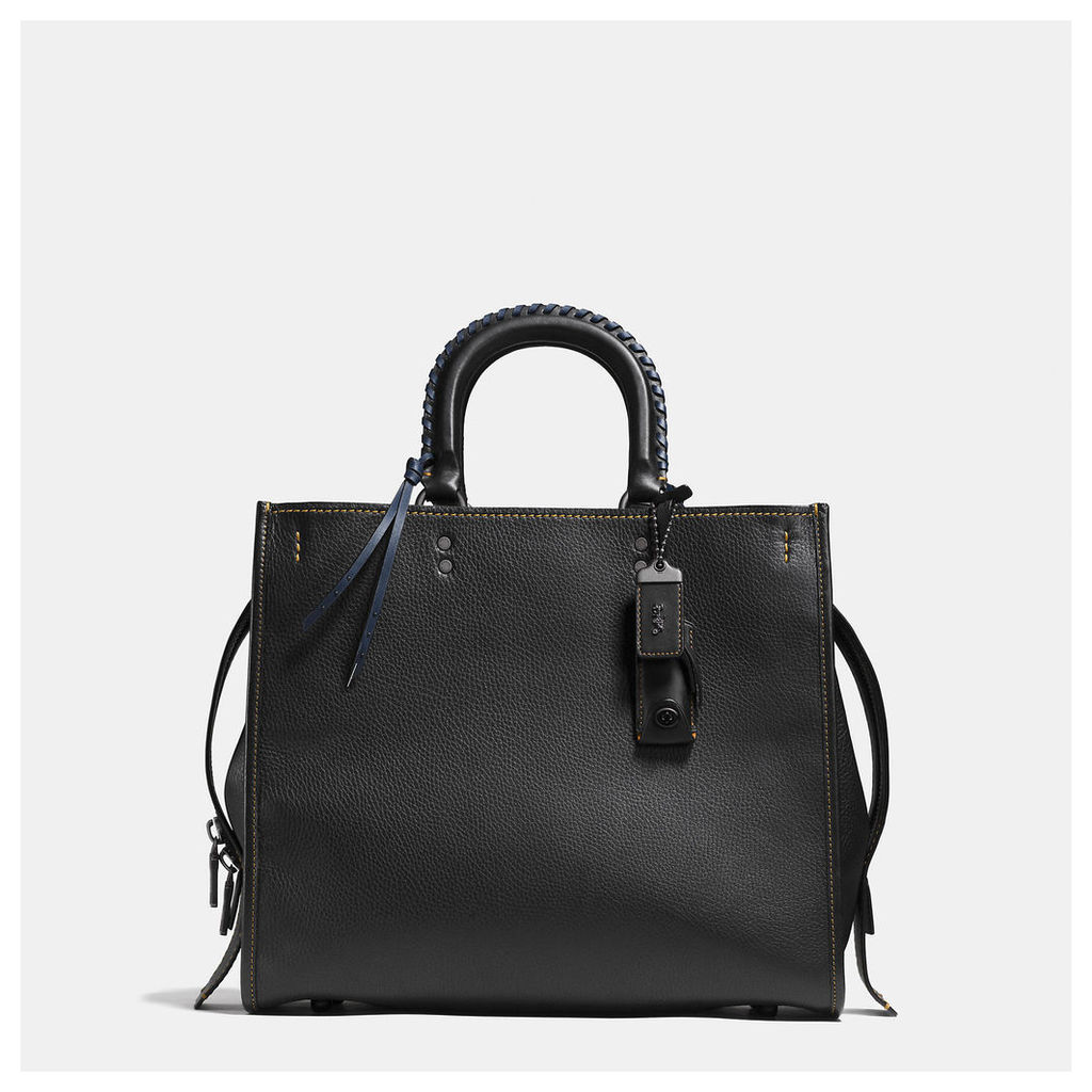 Coach Rogue 36 With Embellished Handle In Glovetanned Pebble Leather
