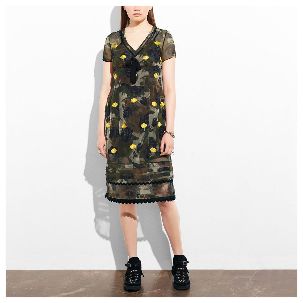 Coach Sheer Dress With Bow