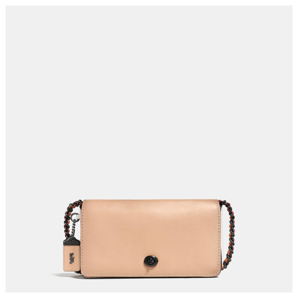 Coach Colorblock Dinky Crossbody In Mixed Materials