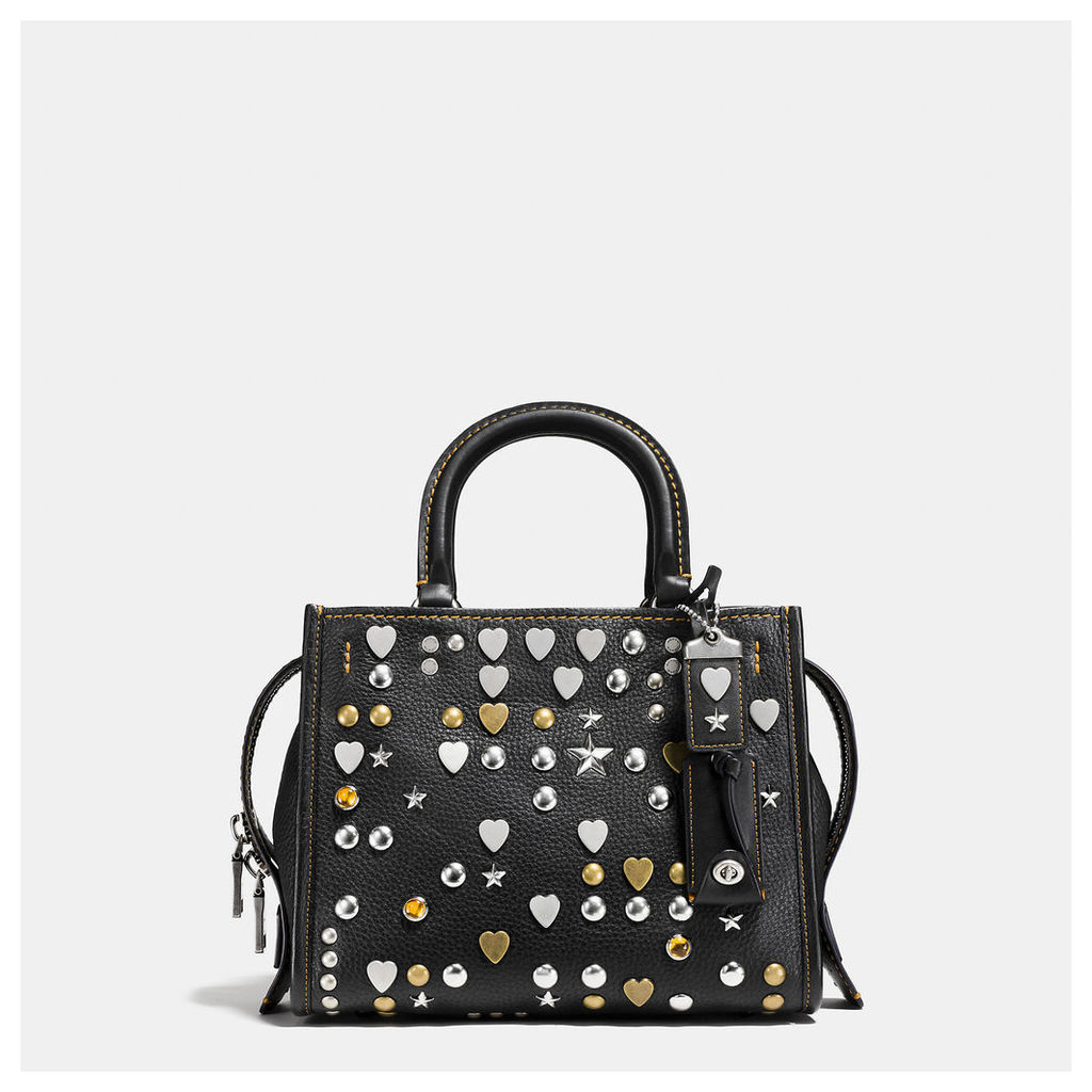 Coach Rogue 25 In Pebble Leather With Beatnik Rivets