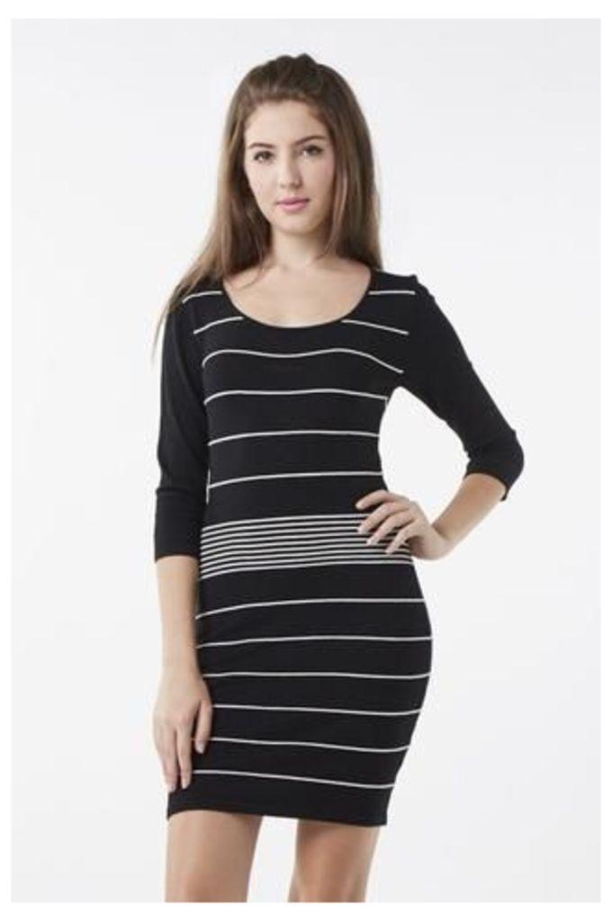 Bodycon Contrast Striped Dress