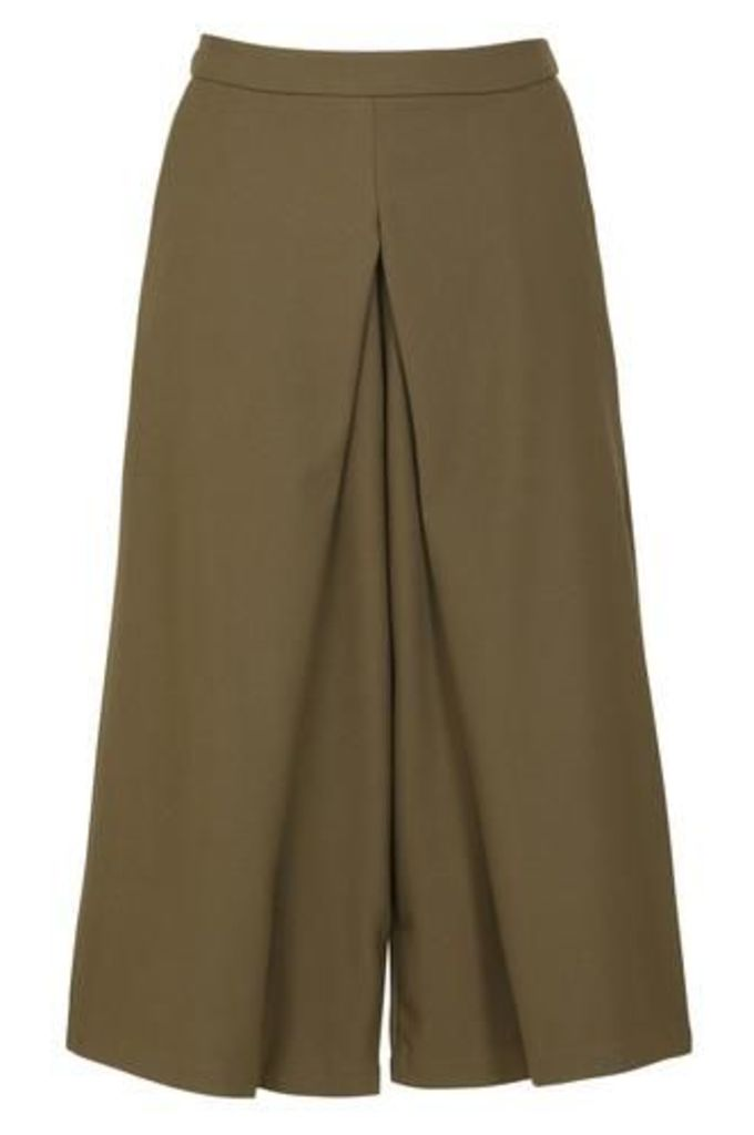 Midi-Length Culotte Trousers