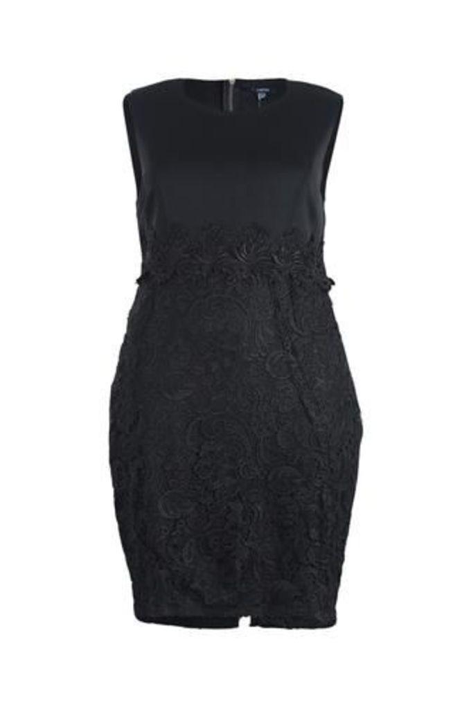 Plus Size Laced Skirt Pencil Dress