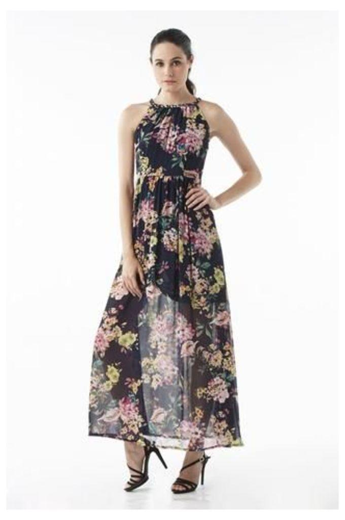 Botanical Printed Maxi Dress