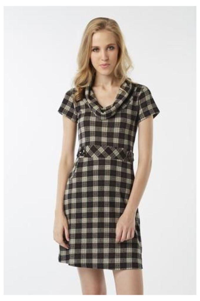 Tartan Print Knit Dress