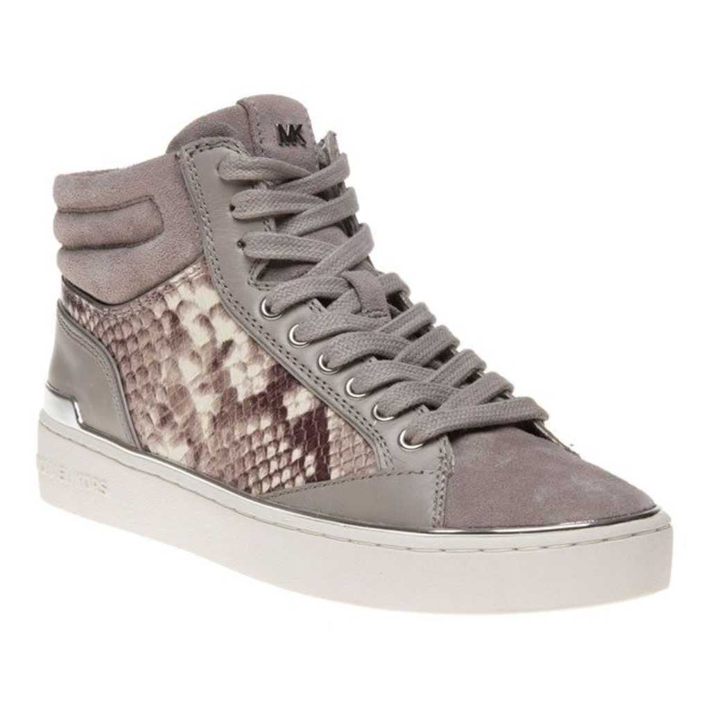 Michael Kors Kyle High Top Trainers, Pearl Grey