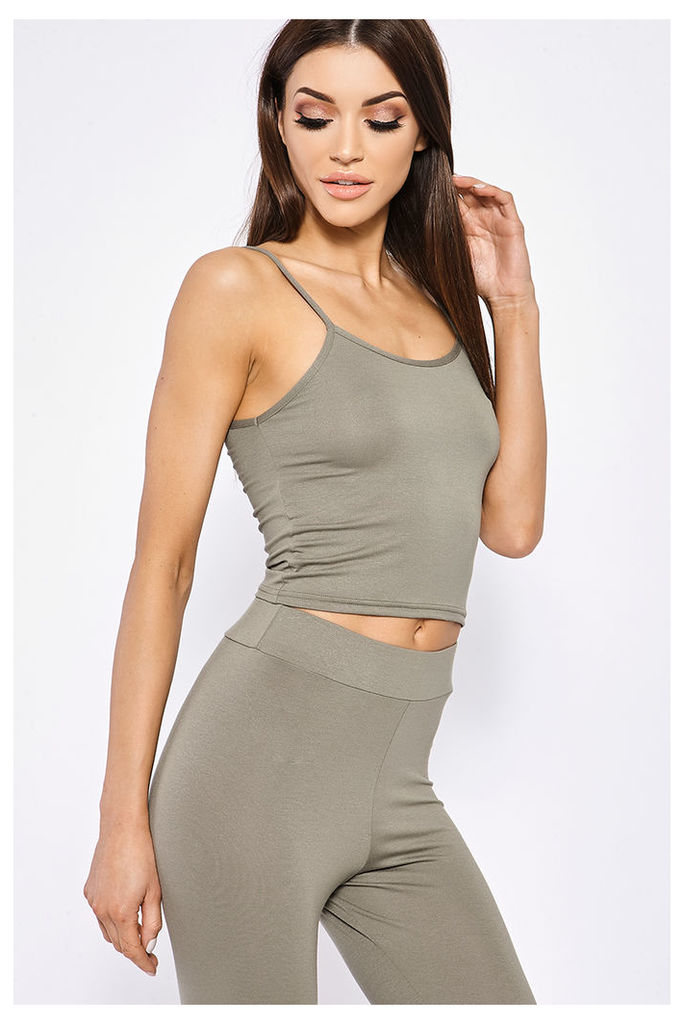 Khaki Tops - Basic Jersey Khaki Cami Top