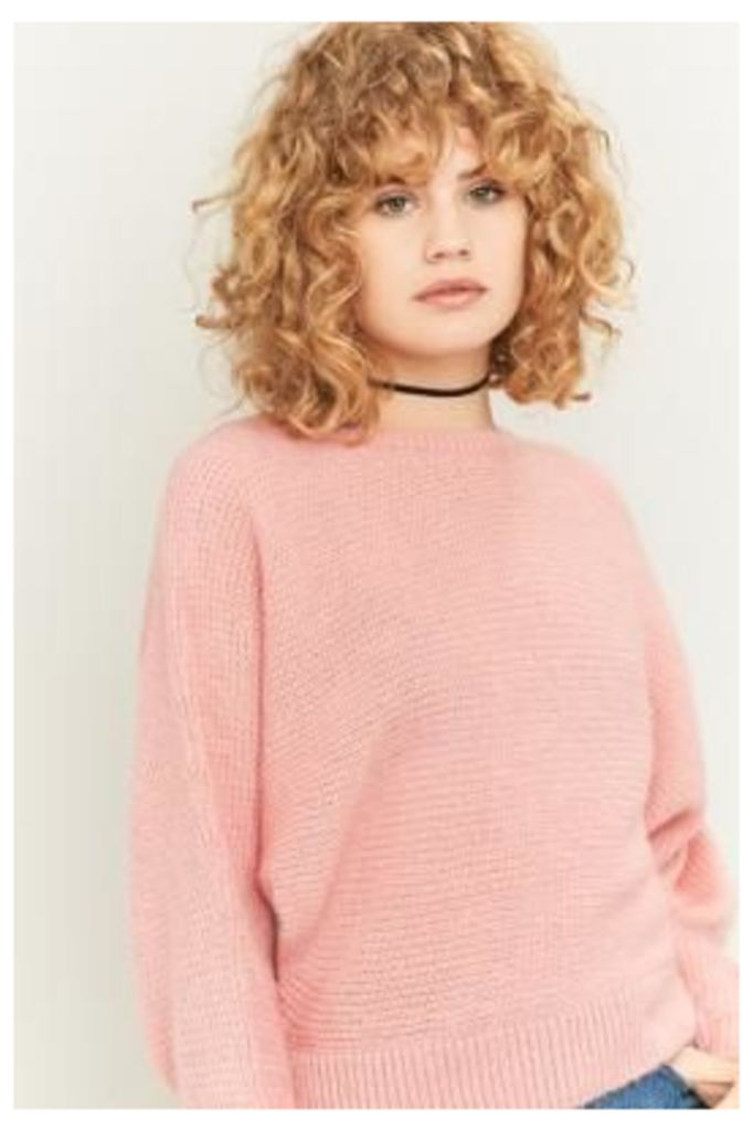 Urban Outfitters Knitted Batwing Jumper, PINK