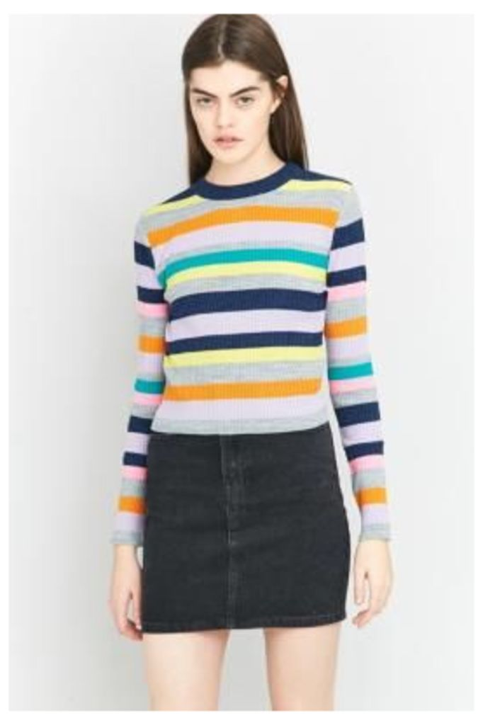 Urban Outfitters Neon Striped Jumper, ASSORTED
