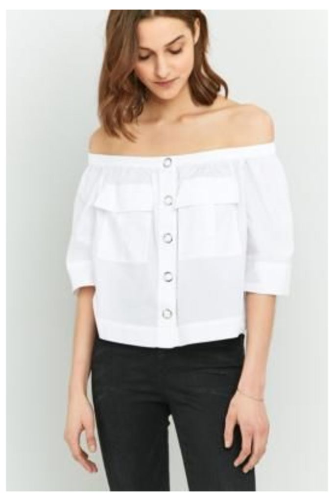Free People Head Over Heels Off-The-Shoulder Top, WHITE