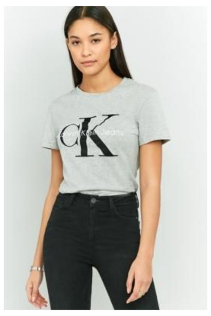 Calvin Klein True Icon Shrunken T-Shirt, LIGHT GREY