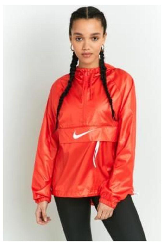 Nike Swoosh Red Half-Zip Windbreaker, RED