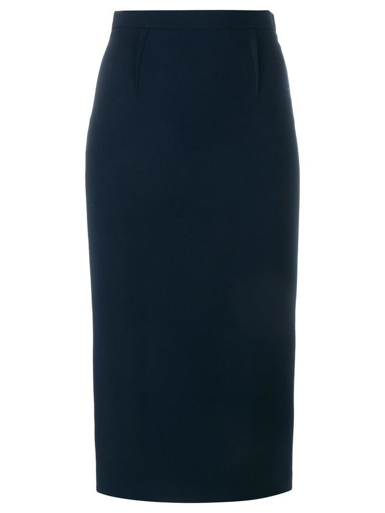 Roland Mouret - 'Arreton' Stretch Midi Skirt - women - Spandex/Elastane/Acetate/Viscose - 8, Blue