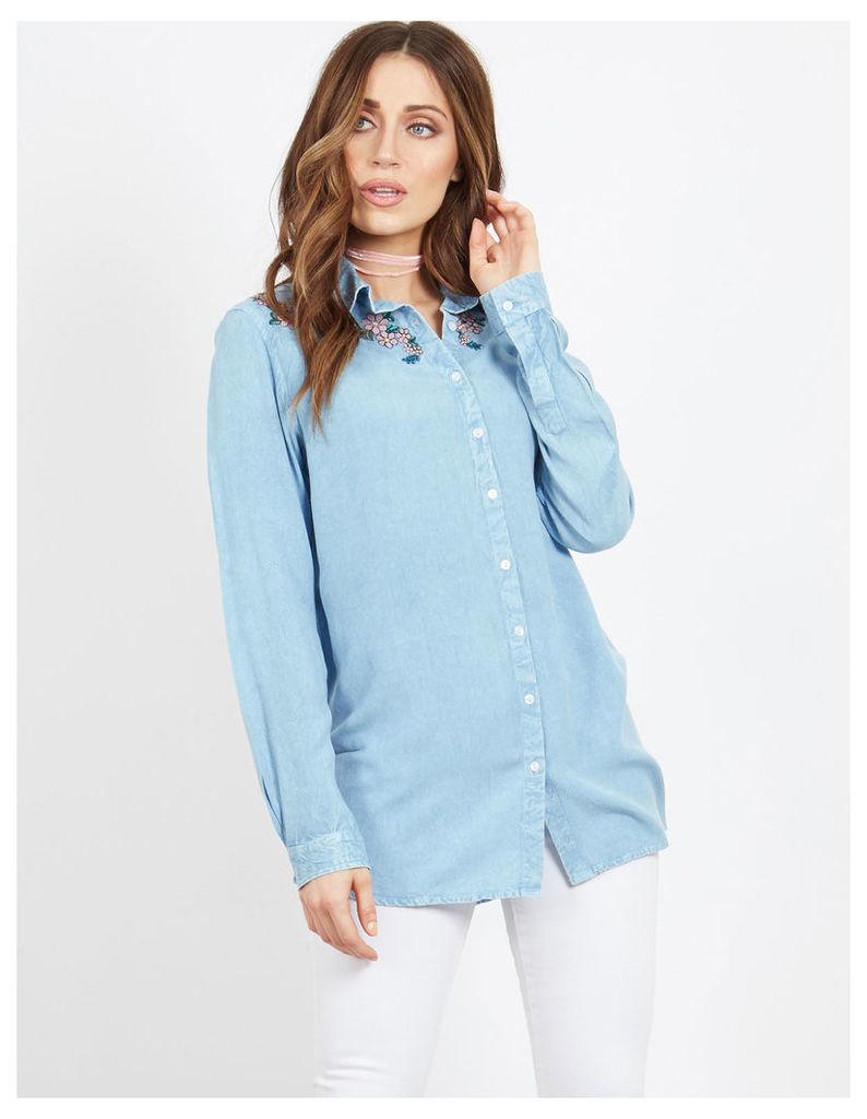 KATO - Embroidered Denim Shirt