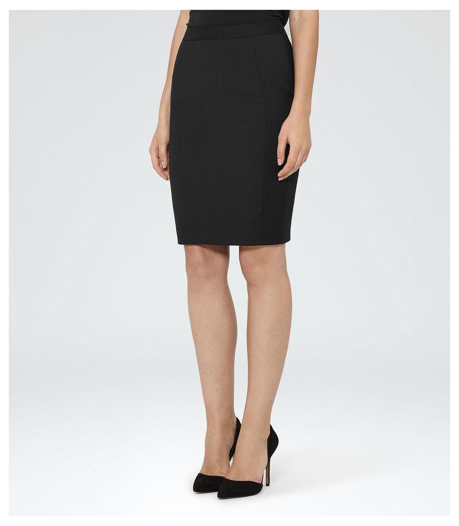 REISS Huxley Skirt - Womens Tailored Pencil Skirt in Black