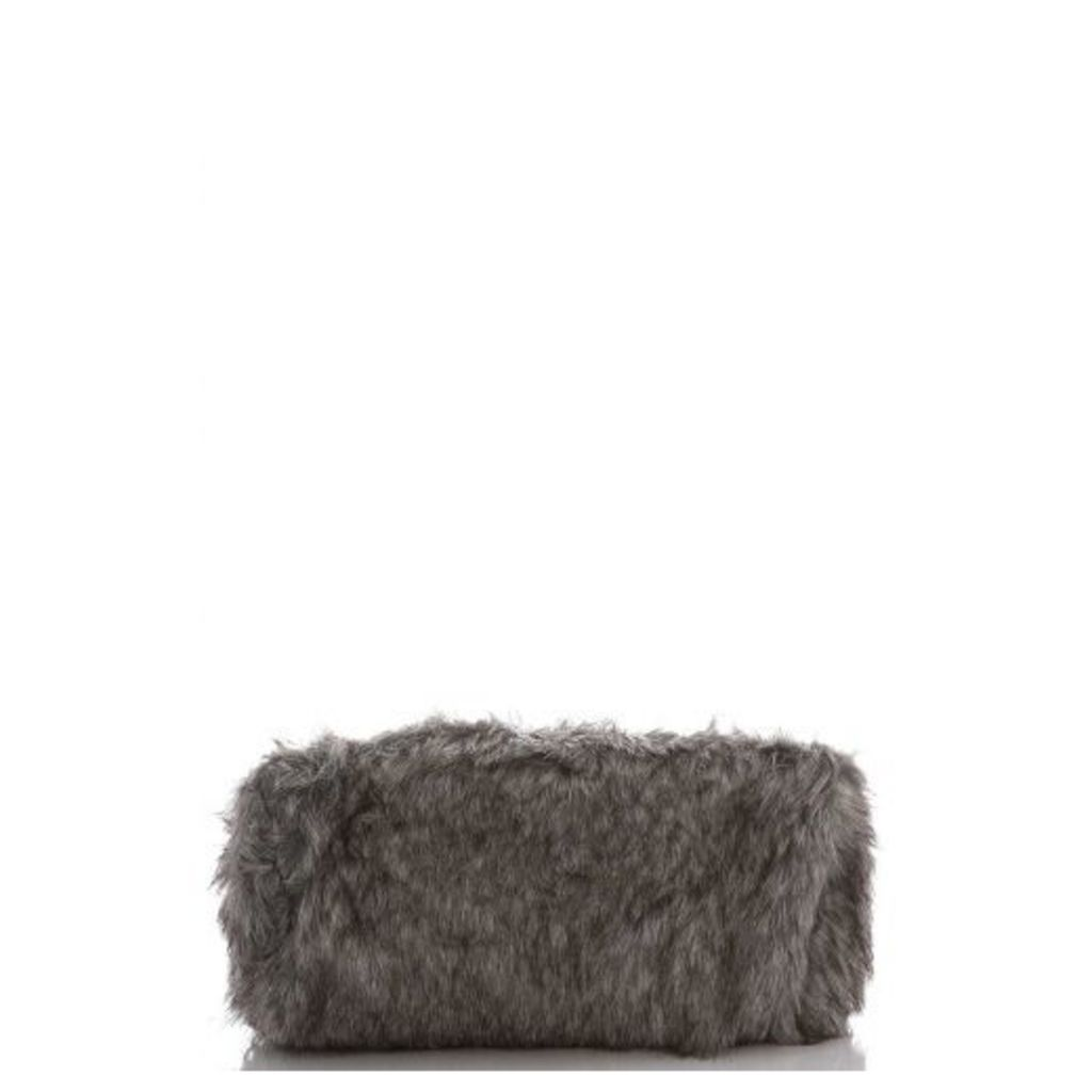 Grey Faux Fur Bag
