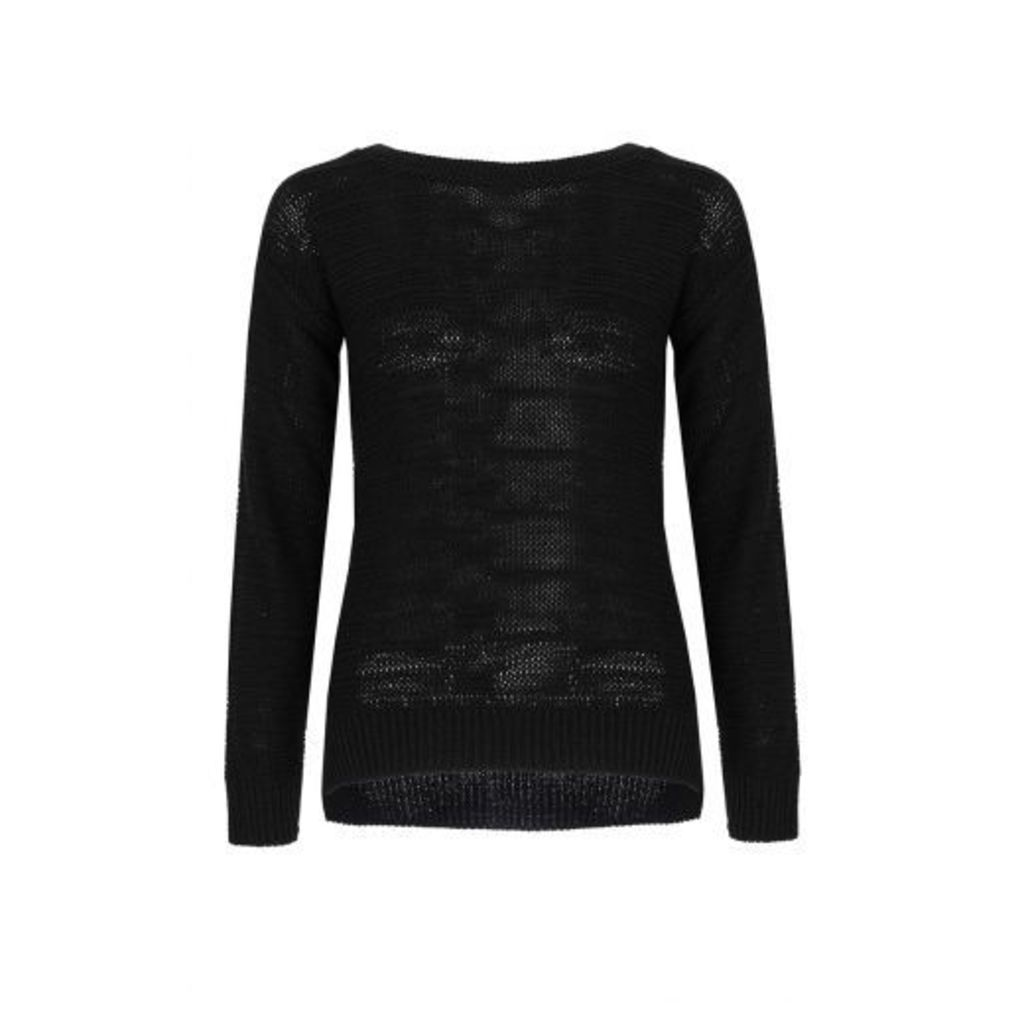 Black Long Sleeve Jumper