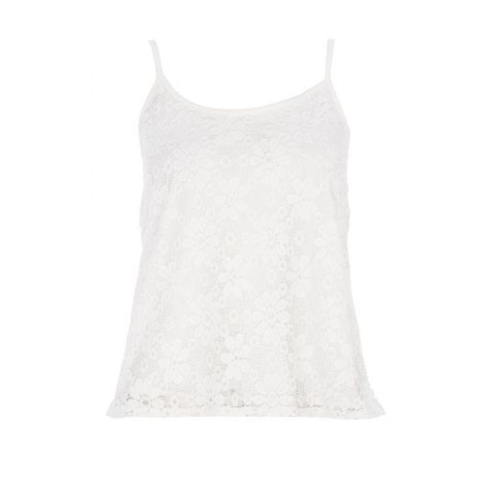 Cream Lace Cami Vest Top