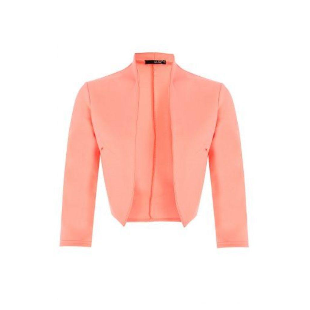Coral 3/4 Sleeve Crop Jacket
