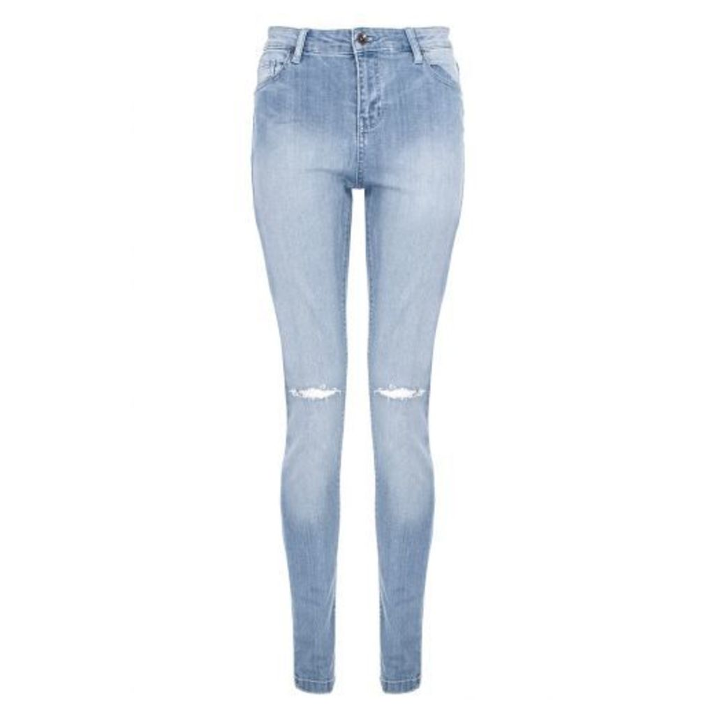 Light Blue Denim Rip Knee Jeans