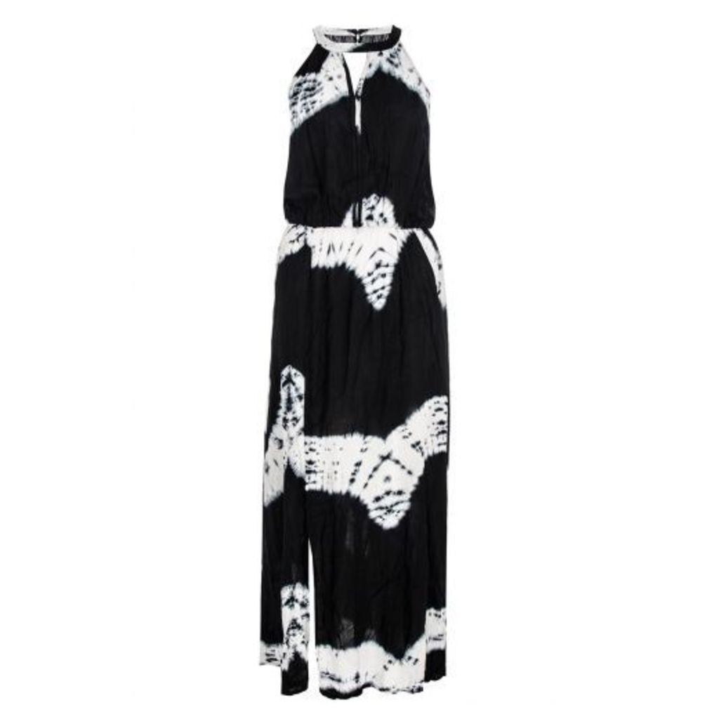 Black and White Print Maxi Dress