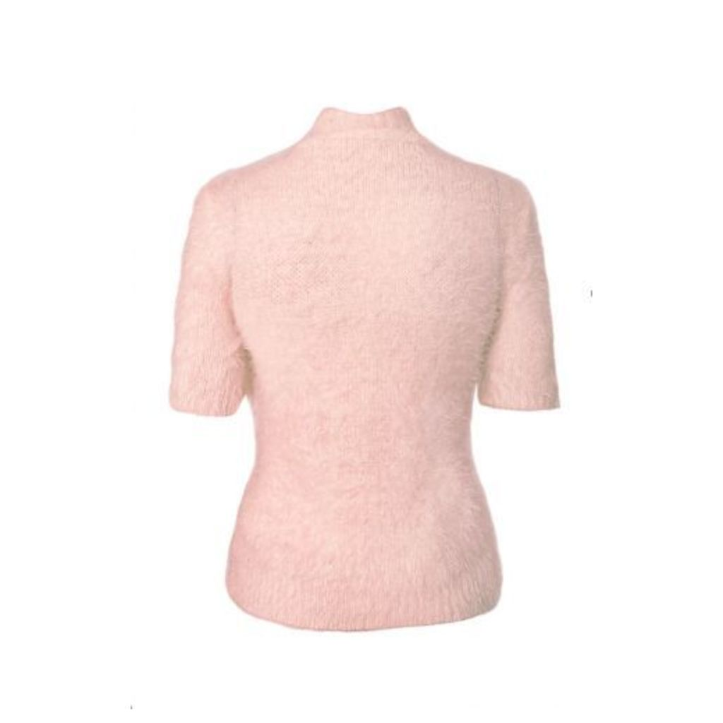 Pink Fluffy Short Jumper