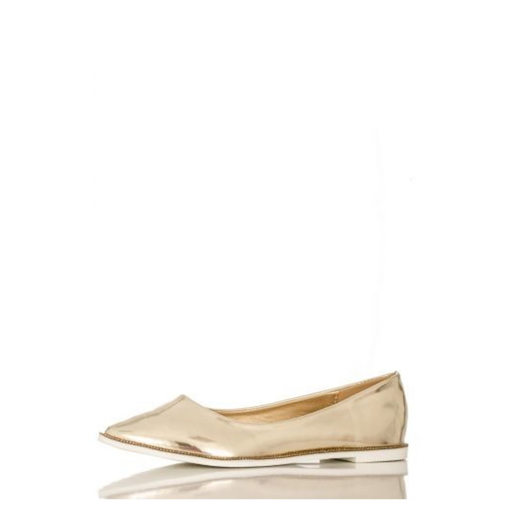 Gold Diamante Rim Pumps
