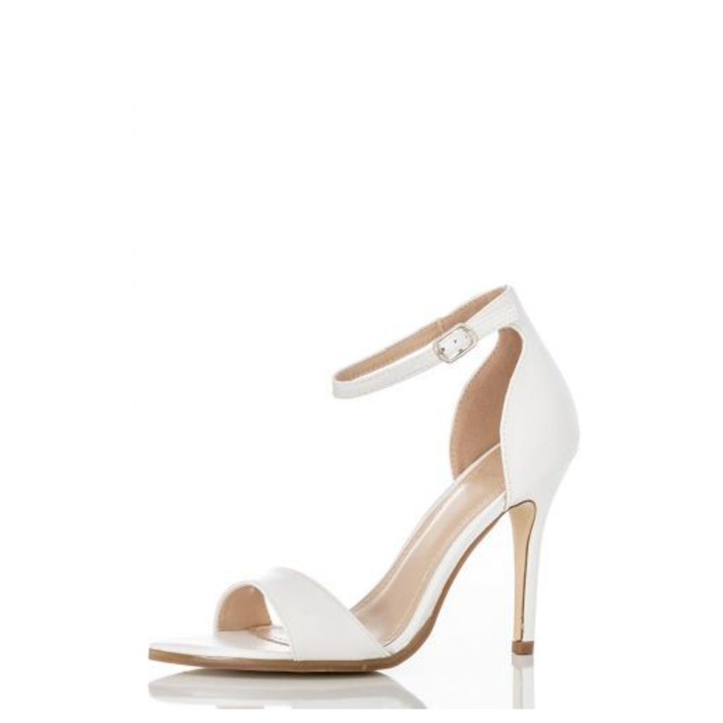 White Pointed Ankle Strap Sandal