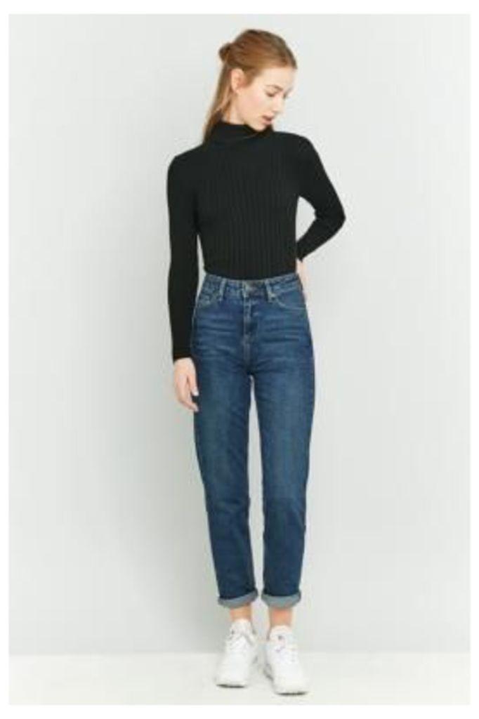 BDG Dark Indigo Mom Jeans, LIGHT BLUE