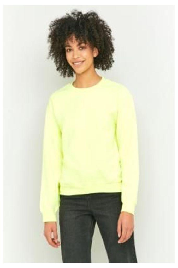 BDG Plain Sweatshirt, YELLOW