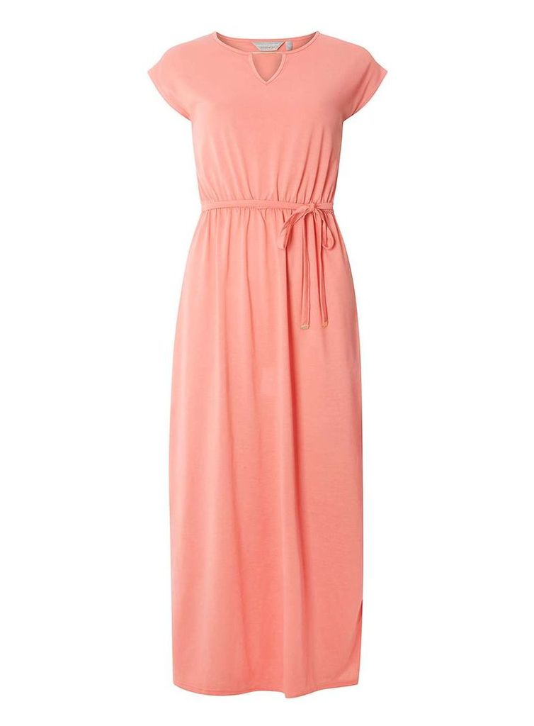 Womens Petite Coral Jersey Maxi Dress- Coral
