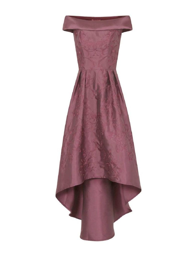 Womens *Chi Chi London Red Embroidered Dip Him Dress- Red