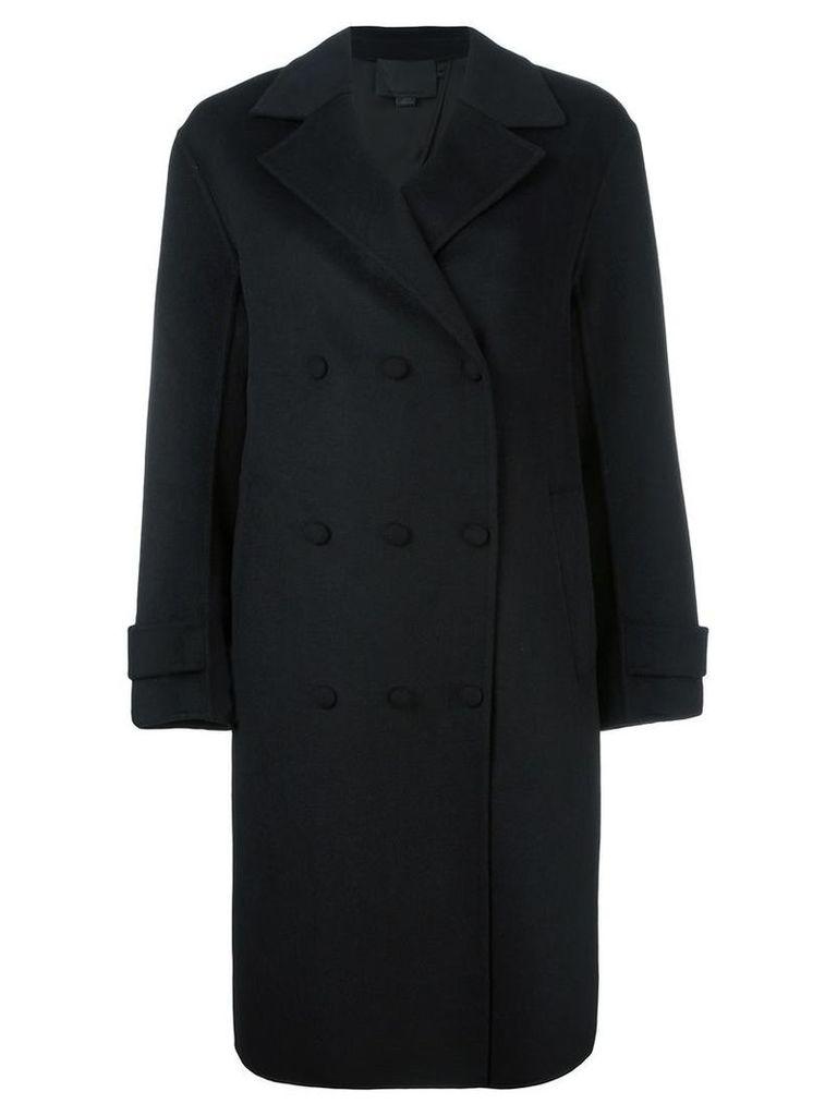 Alexander Wang - oversized peacoat - women - Polyester/Rayon/Wool - XS, Black