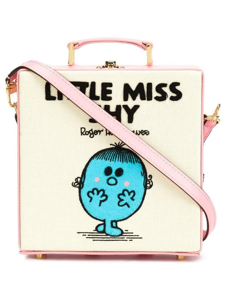 Olympia Le-Tan - Little Miss Shy tote - women - Cotton/Leather - One Size, Pink/Purple