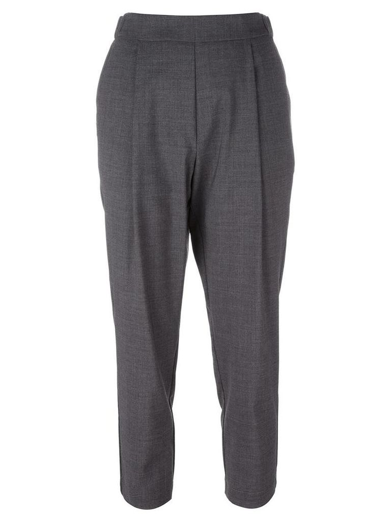 Erika Cavallini - tailored cropped trousers - women - Spandex/Elastane/Acetate/Viscose/Virgin Wool - 46, Grey