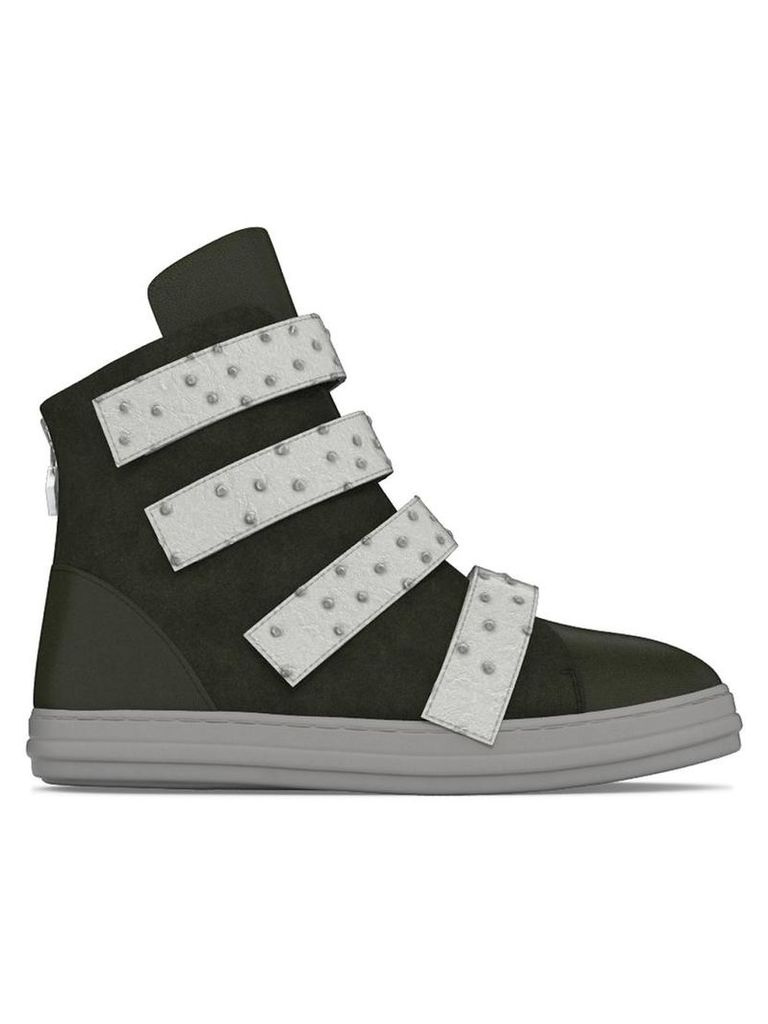 Myswear - Bond' hi-top sneakers - women - Calf Leather/Nappa Leather/Ostrich Leather/rubber - 36