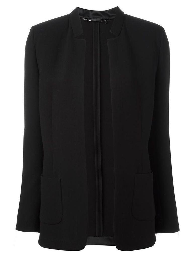 Les Copains - detailed lapel blazer - women - Silk/Polyamide/Spandex/Elastane/Virgin Wool - 42, Black