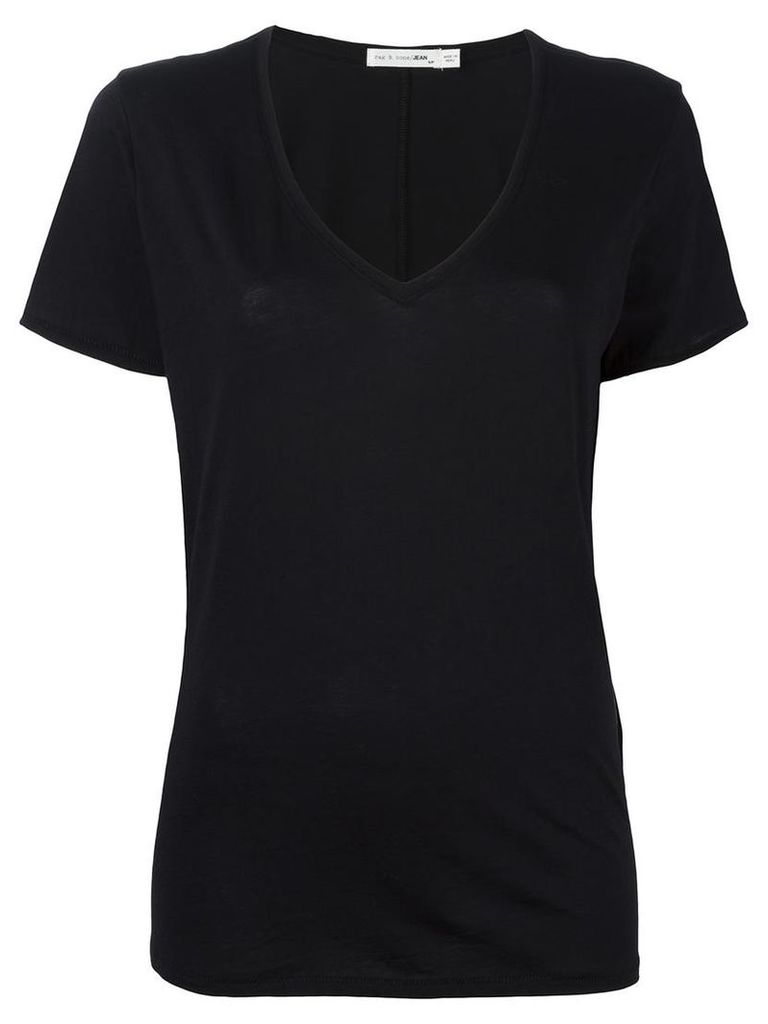 Rag & Bone /Jean - classic v-neck T-shirt - women - Cotton - XS, Black