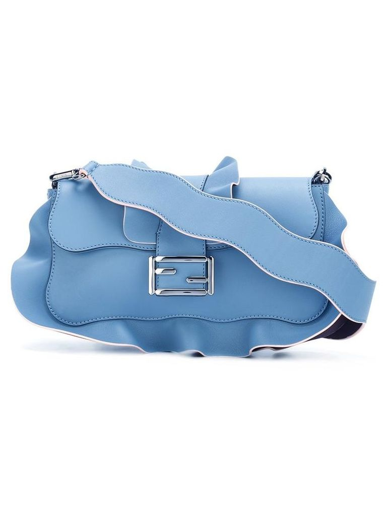 Fendi - 'Baguette' shoulder bag - women - Leather - One Size, Blue